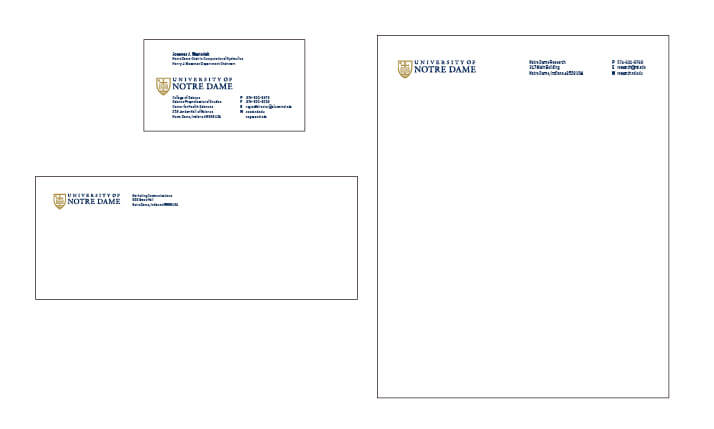 University Stationery Examples