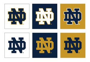 monogram on message university of notre dame