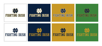 Wordmark Vertical Fighting Irish Color Variations