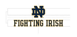 Wordmark Vertical Fighting Irish Two Color