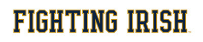 Wordmark Fighting Irish Two Color Example