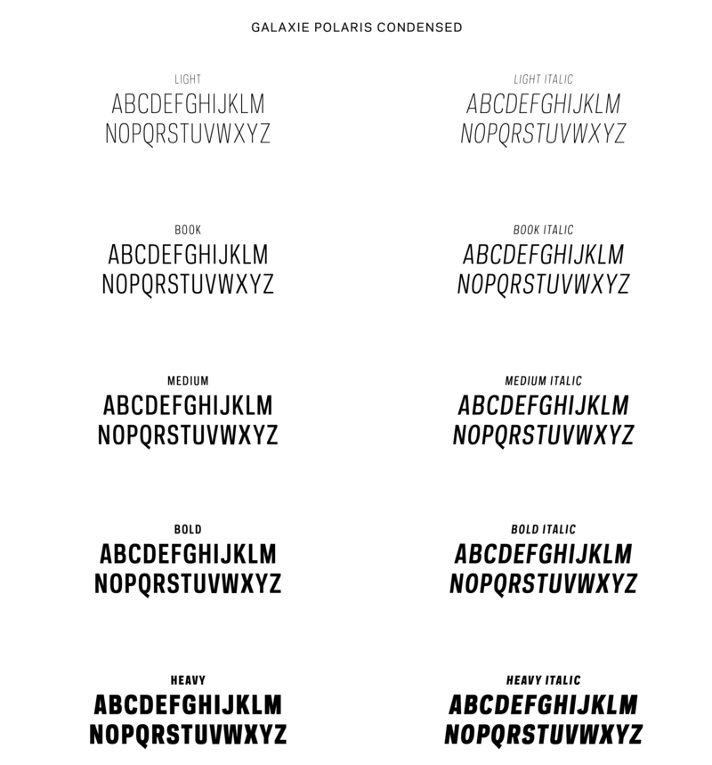 Fonts Galaxiepolariscondensed 01