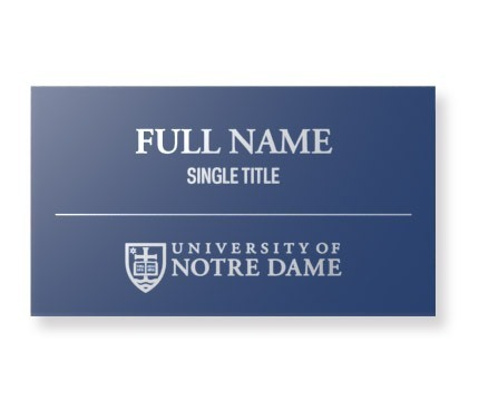 Namebadge Navy White
